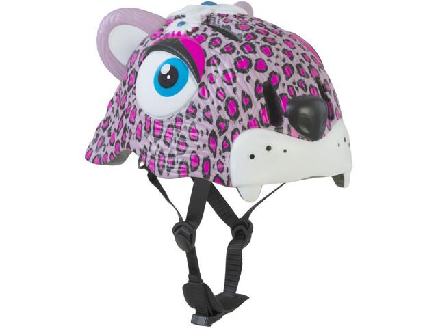 Crazy Safety Leopard Helm Mädchen pink